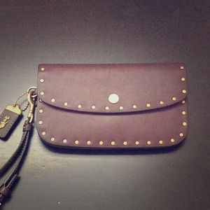 COACH 1941 Clutch Oxblood with Rivets